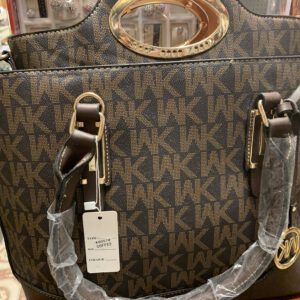 Brown Michael Kors Bag Set